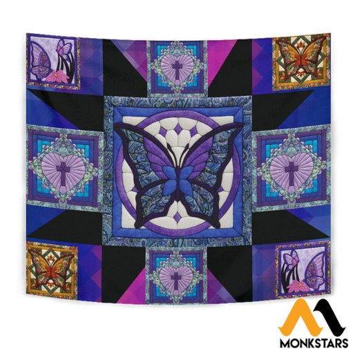 Tapestry - Purple Butterfly