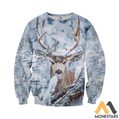 Winter Deer 3D All Over Printed Shirts For Men & Women Long-Sleeved Shirt / Xs Clothes
