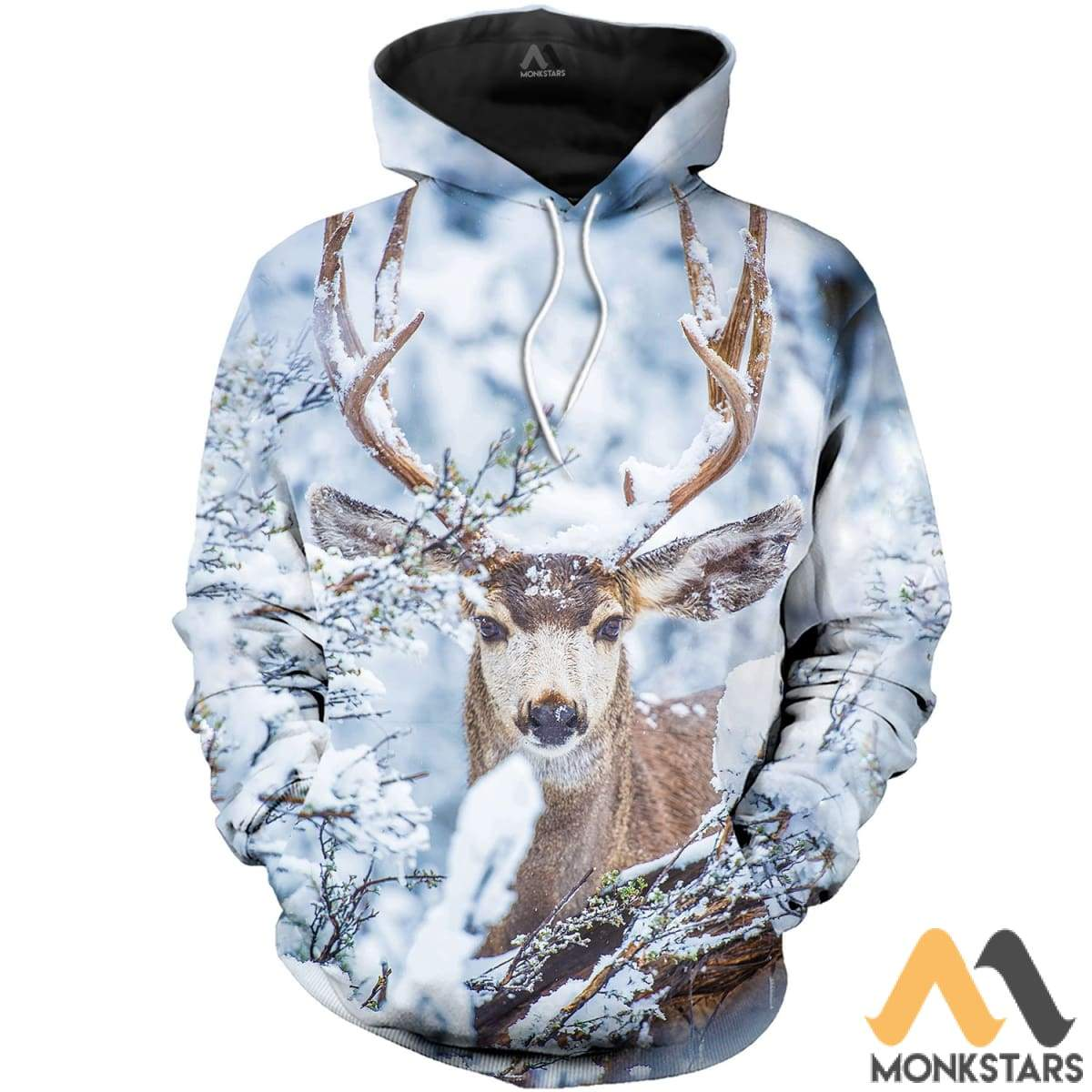 Winter Deer 3D All Over Printed Shirts For Men & Women Normal Hoodie / Xs Clothes