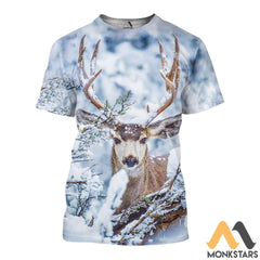 Winter Deer 3D All Over Printed Shirts For Men & Women T-Shirt / Xs Clothes