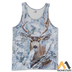 Winter Deer 3D All Over Printed Shirts For Men & Women Tank Top / S Clothes