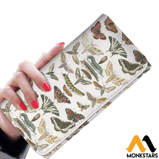 Women Wallet Butterfly & Moth Womens