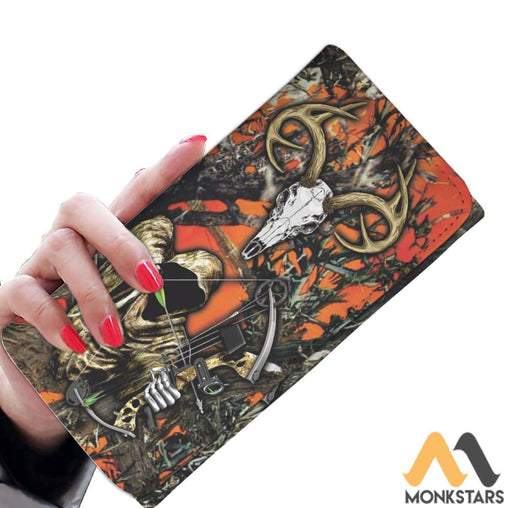 Women Wallet - Grim Reaper Bow Hunter Camo Womens