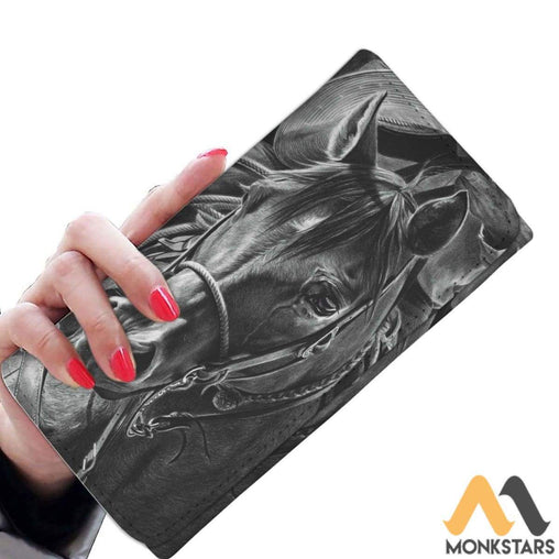 Women Wallet - Mono Horse Art Womens