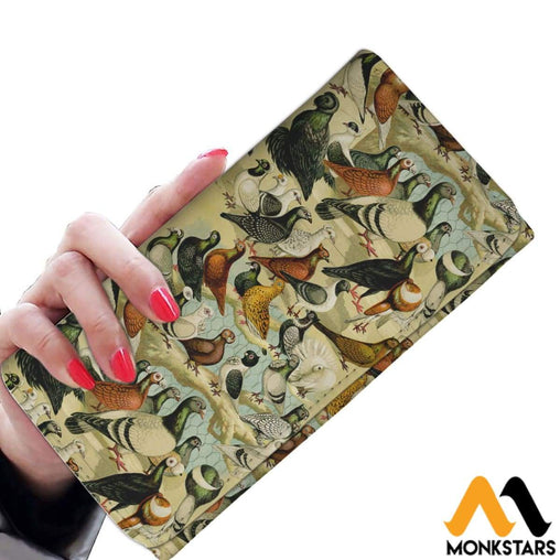 Women Wallet - Pigeons Womens