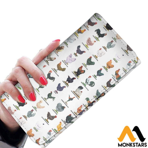 Women Wallet - Poultry Breeds Womens