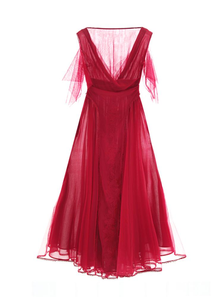 Bohemian Fairy Red Dress