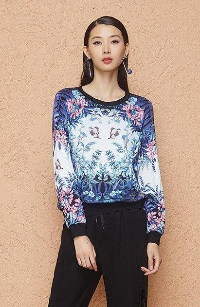 Floral Printed Long Sleeve T-Shirt