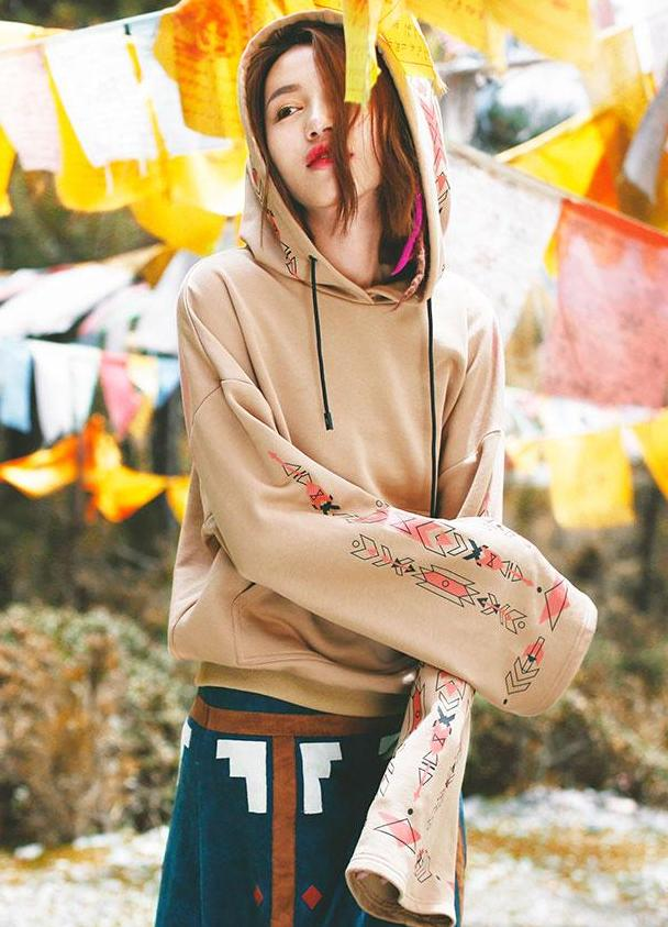 Ethnic Style Hooded Sweater