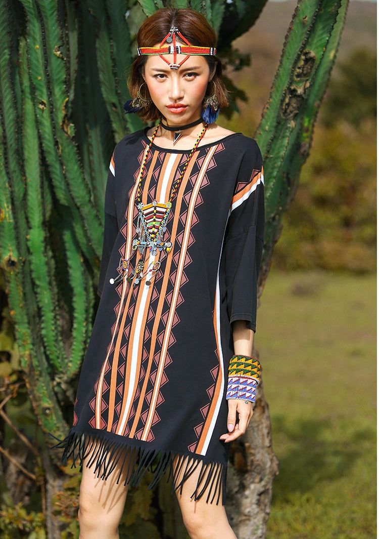 Hippie Style Long T-Shirt