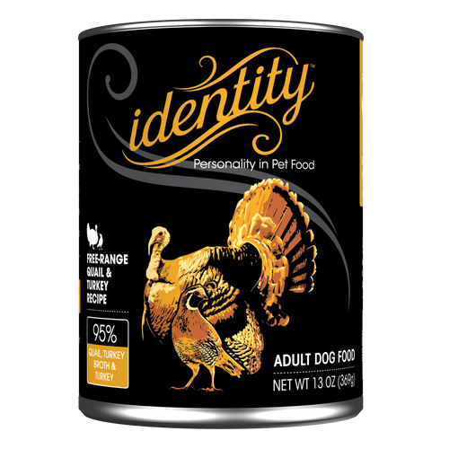 Identity dog quail & Turkey 13oz