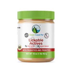 Green Coast Pet lickable actives probiotics and prebiotics