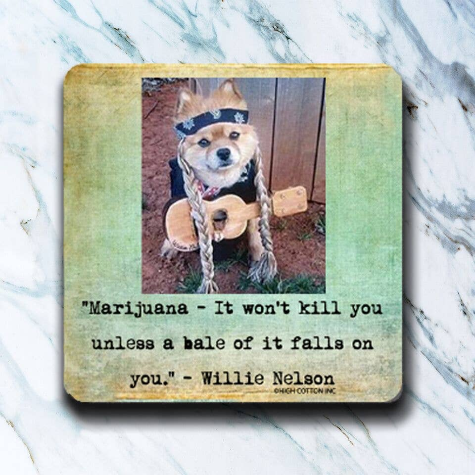 High Cotton Gifts - Willie Dog Coaster