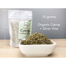Load image into Gallery viewer, Munchiecat - Organic Catnip with Silvervine (Silver Vine), Premium Blend