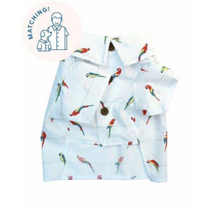 Dog Threads - Birds of Paradise BBQ Shirt dog