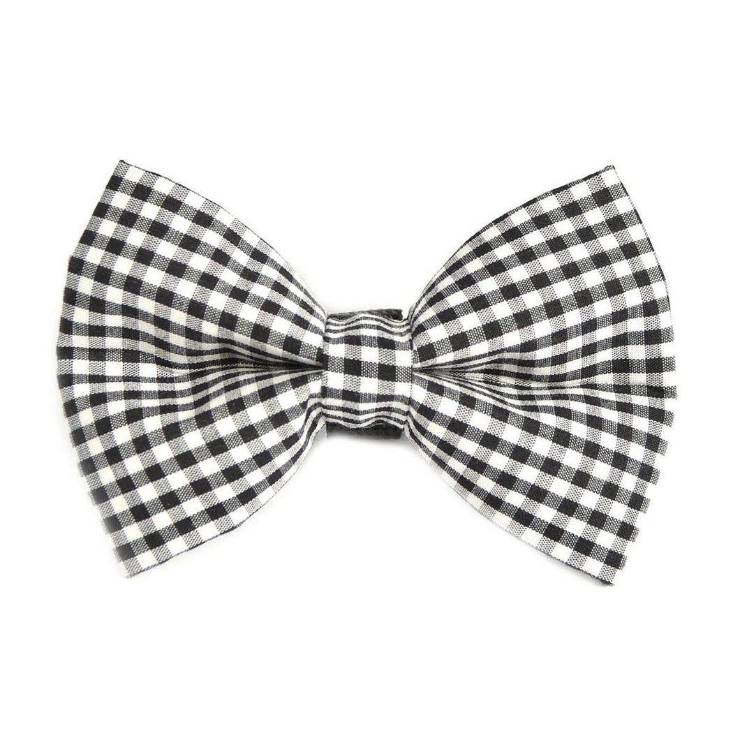 Winthrop Clothing Co. - Black and White Gingham Dog Bow Tie