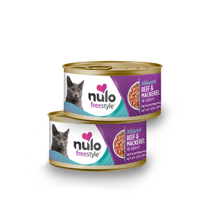 Nulo can cat minced beef/mackerel 3oz