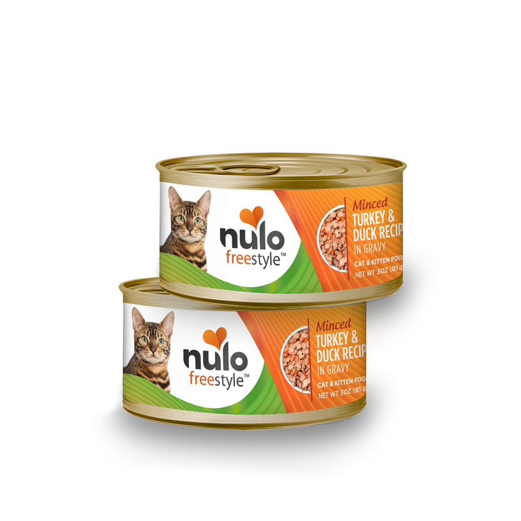 Nulo can cat minced turkey/duck 3oz