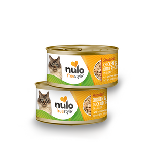 Nulo can cat shredded chicken & duck 3oz