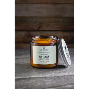Fox + Hound - Odor Eliminator Soy Candle - Fire Roasted Vanilla