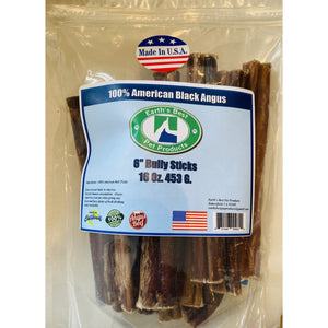 "Earths best pet products 6"" bulk bully sticks 16oz"