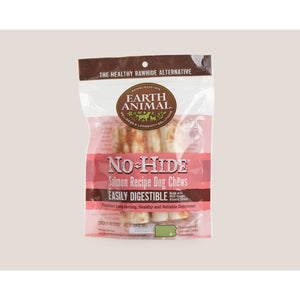 "Earth Animal No hide Salmon chews 4"" 2 pack"