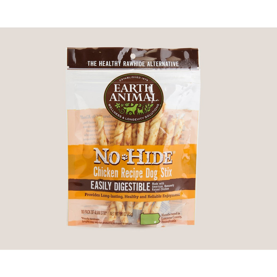 Earth Animal No hide chicken stix small 10 pack