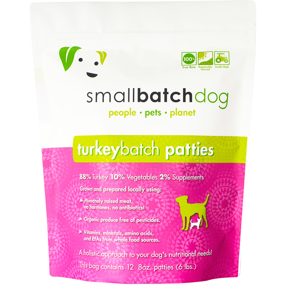 Smallbatch frozen turkey for dogs