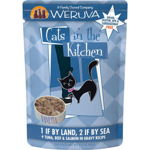 Weruva cats in the kitchen pouch 1 if by land two if by sea 3oz