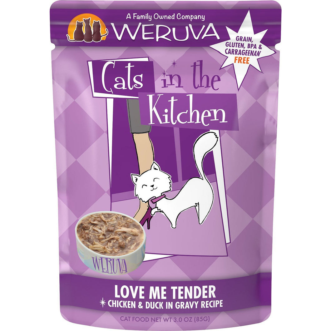 Weruva cats in the kitchen pouch love me tender 3oz