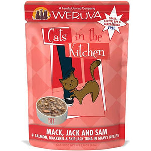 Weruva Cats in the kitchen pouch mack jack & Sam 2.8oz