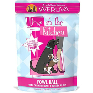 Weruva Dogs in the kitchen pouch fowl ball 2.8oz