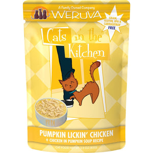 Weruva cats in the kitchen pouch pumkin lickin chicken 3oz