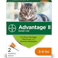 Advantage 2 small cat 5-9lb 2 pack