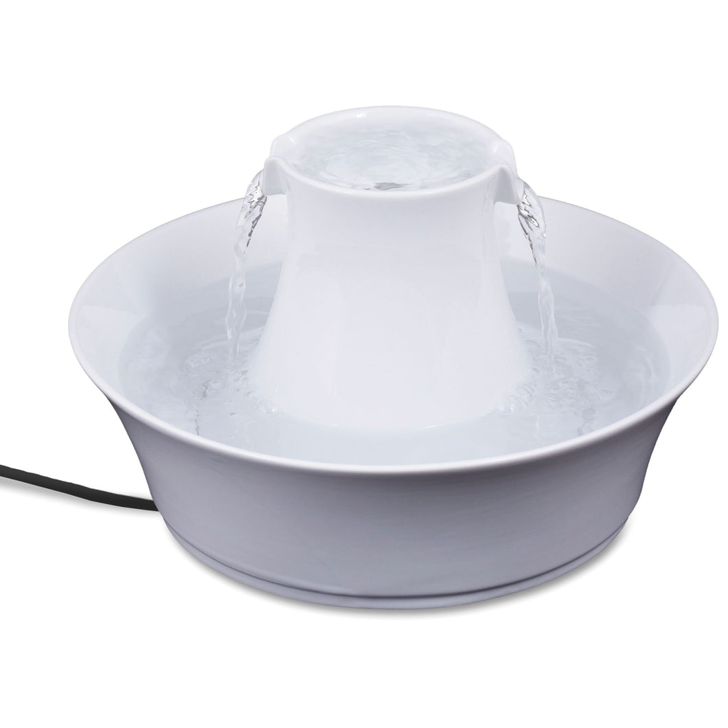 PetSafe Drinkwell Pet Fountain - Porcelain Avalon White