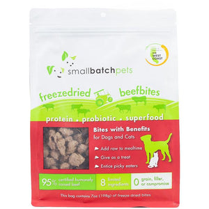 Smallbatch freezedried beef bites 7oz