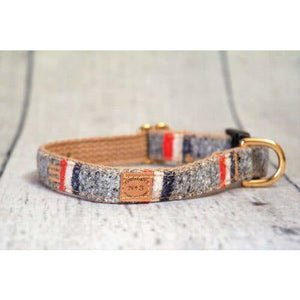 "Finnegan's Standard Goods - 3/4"" HEATHER GREY STRIPE COLLAR"