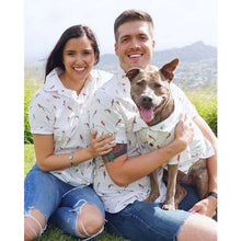 Load image into Gallery viewer, Dog Threads - Birds of Paradise BBQ Shirt dog