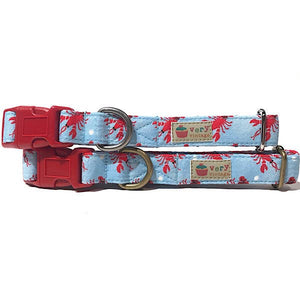 Very Vintage Designs - Lobster Claw - Organic Cotton Pet (Dog & Cat) Collar