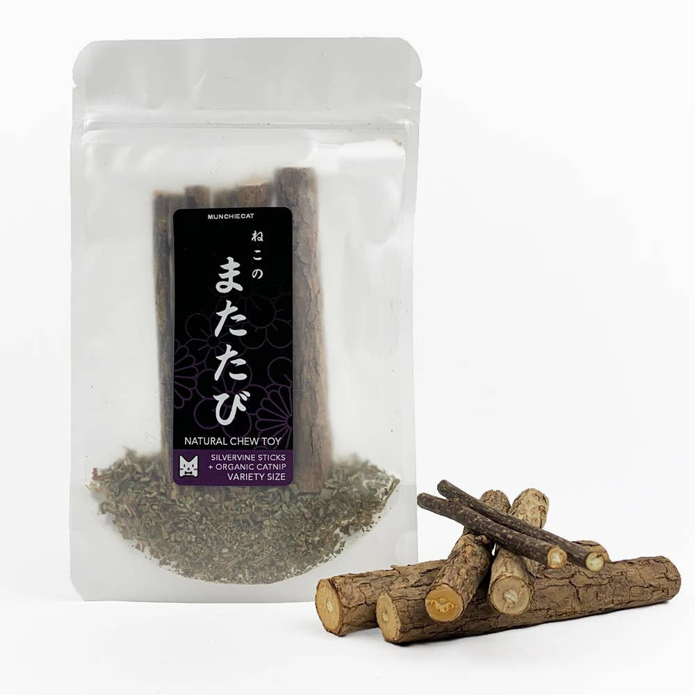 Munchiecat - Matatabi Chew Sticks, Silvervine Variety Sizes