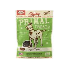Primal Beef chips jerky treat 3oz