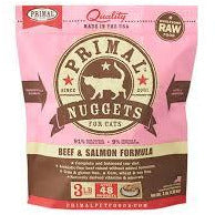 Primal cat 14oz beef salmon nuggets freezedried