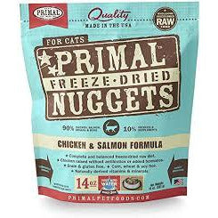 Primal cat 14oz chicken salmon nuggets freezedried