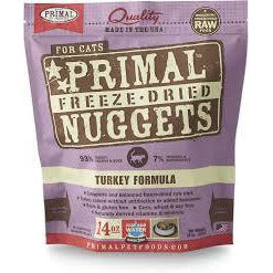 Primal cat 14oz turkey nuggets freezedried