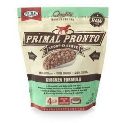 Primal Dog pronto 4lb chicken