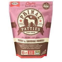Primal dog turkey sardine frozen