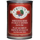 Fromm Four Star Shredded Beef entree dog 12oz