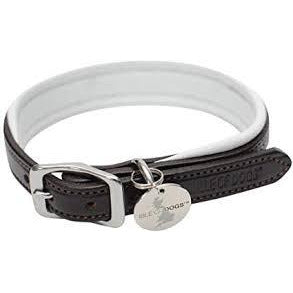 Isle of dogs leather collar white