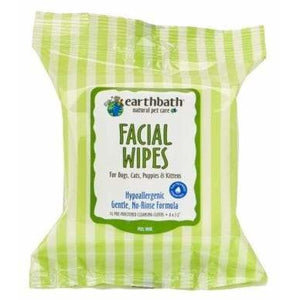 Earthbath Facial Wipes 25ct