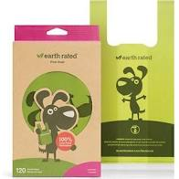 Earth rated Poop Bags box of 120 handle scented